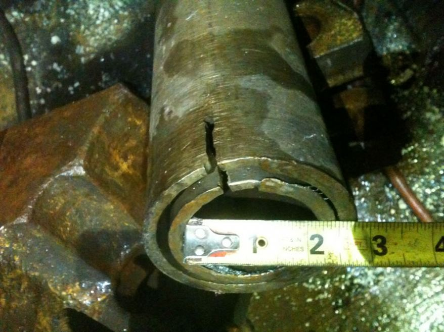 Very small casing sever and slot cut, 300 feet deep.