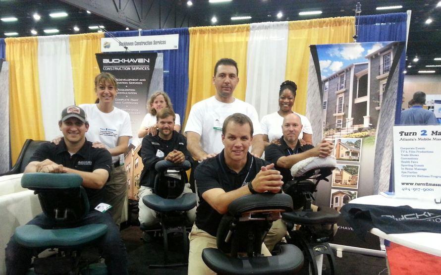 Trade show massage at the Atlanta Apartment Association Trade Show