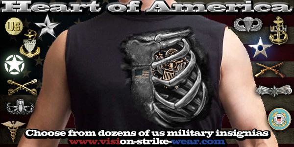 Heart Of America Military Shirts