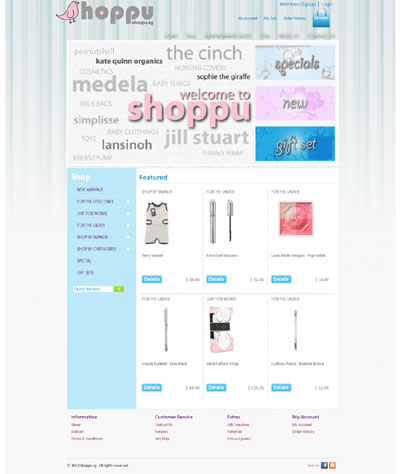 SHOPPU-PSD to Joomla Project