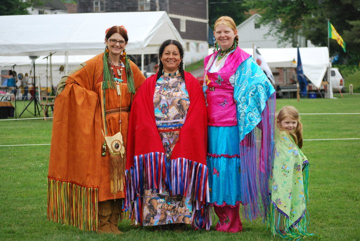 Chief Little Fox, Judy Caban, Yellow Star Dancing, and Medicine Flower