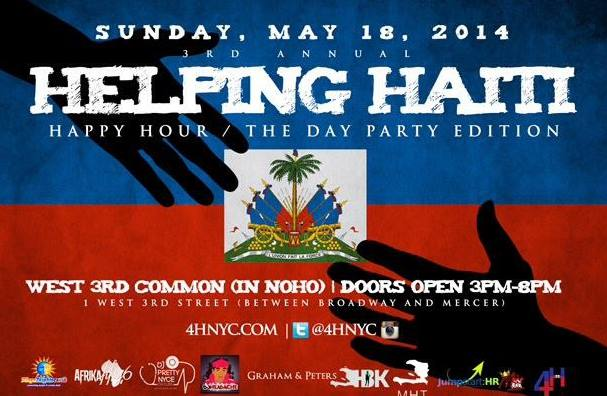 Helping Haiti Happy Hour - Visit our website www.4hnyc.com for more details.