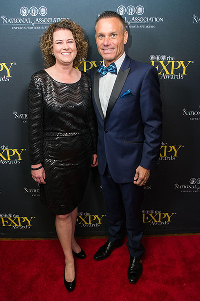 Tax Attorney Mary King with Kevin Harrington At The EXPY Awards