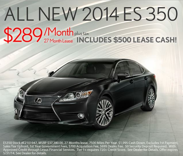 2014 Lexus ES350 at Lexus of Melbourne