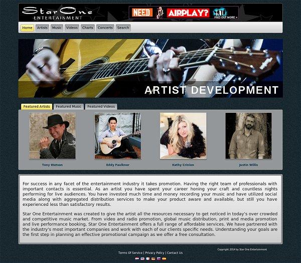 Star One Entertainment's Website