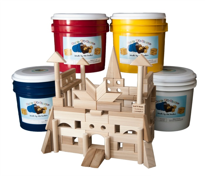 """Castle Creator"" 118 piece wooden block set"
