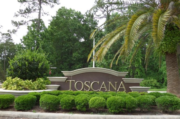 The Toscana Entrance in Palm Coast, FL.