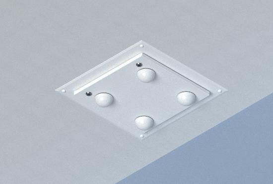 Model 1028 for hard lid wall and ceiling applications and suspended ceilings