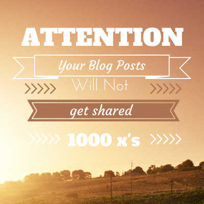 Get Your Blog Post Shared