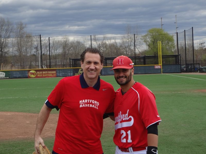 Daniel Friedman with Hawk's catcher (and WMGNA Intern), James Alfonso