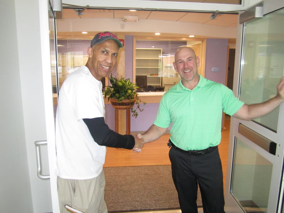 Dr. David Howell and Dave Dirubbo at Village Pediatrics Grand Opening