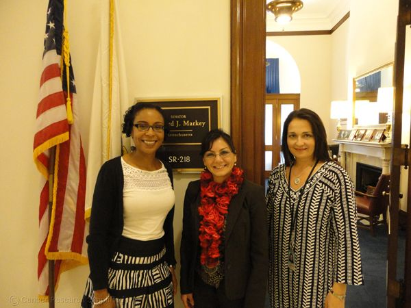 From left to right: Dr. Avenel Joseph, Dr. Ayguen Sahin, Dr. Shannon L. Hader