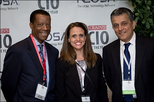 Dr. Martin Harris with Margi Shaw and Ravi Marwaha from First Communications