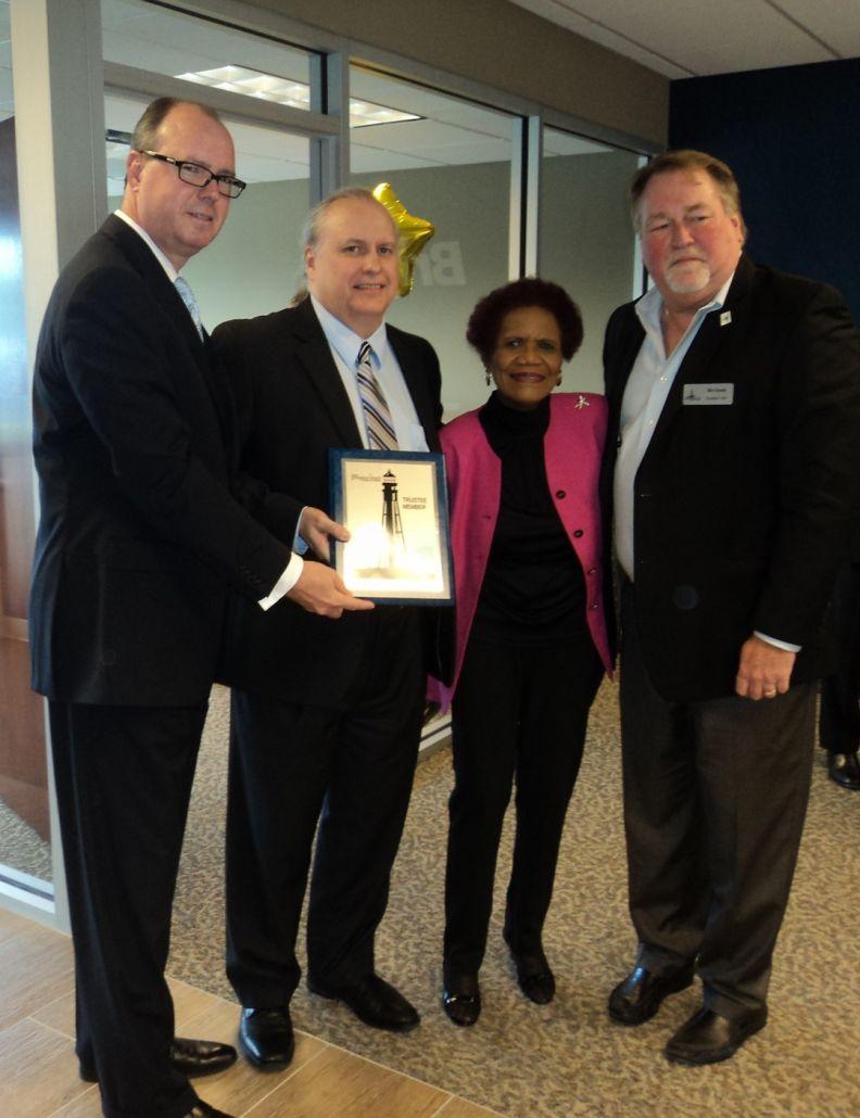 Mayor Lamar Fisher, Sam Chesser, Dr. Dorothy Orr, Ric Green