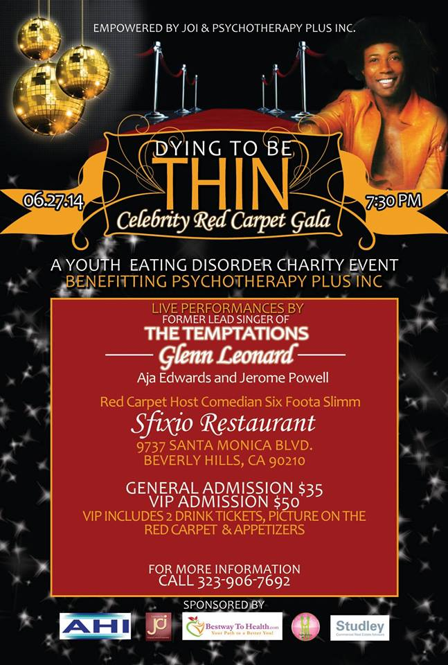 Dying To Be Thin Youth Eating Disorder Awareness Red Carpet Gala Mixer