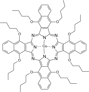 MFP-S2194 – a naphthalocyanine. Absorption maximum in CH2Cl2 = 848 nm