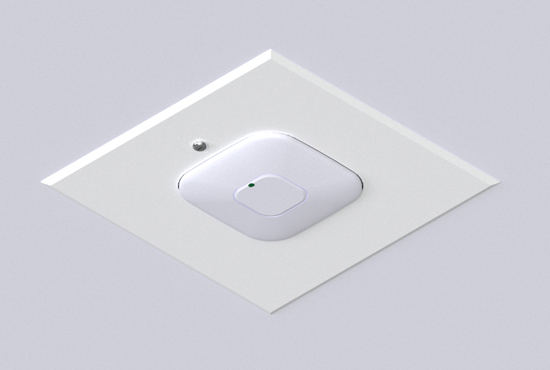 Oberon Model 1065-00 can be used as a hard lid ceiling or wall mount.