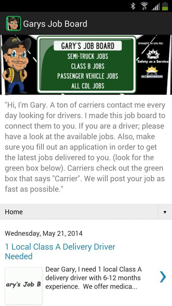 Gary's Job Board App Screenshot
