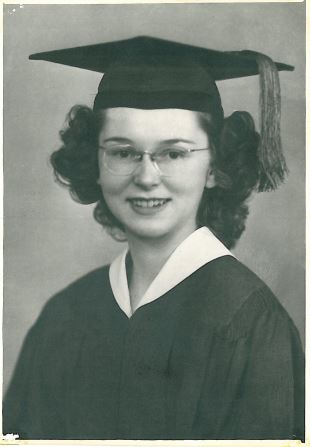 Elinor Johnson Osness, Kent High School, 1945