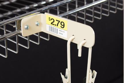 FFR Merchandising Strip Hanger Wire Shelves