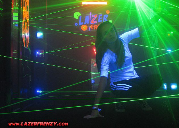 The award winning game Lazer Frenzy is an arcade style attraction