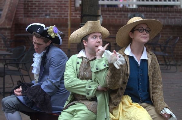 Annapolis Shakespeare Company's THE SCHEMINGS OF SCAPIN.  Photo Joshua McKerrow.