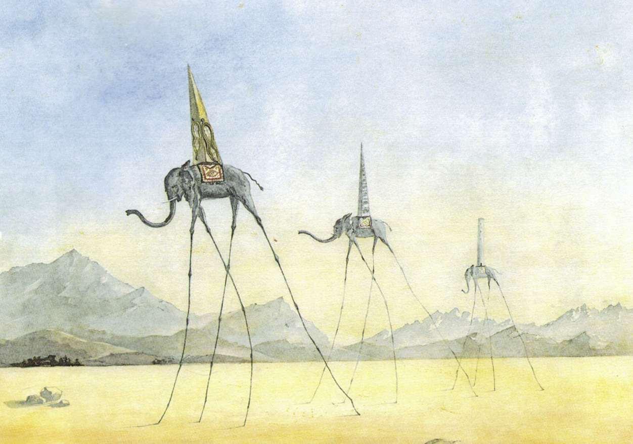 Salvador Dali, Tres Elephants