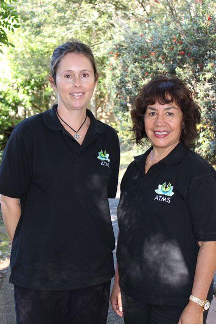Massage students, Simone Bollen and Violeta Lucas