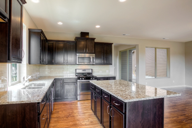 Gourmet kitchen features included at Woodbury Crossing