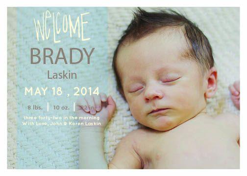 Transparent Headliner Birth Announcement