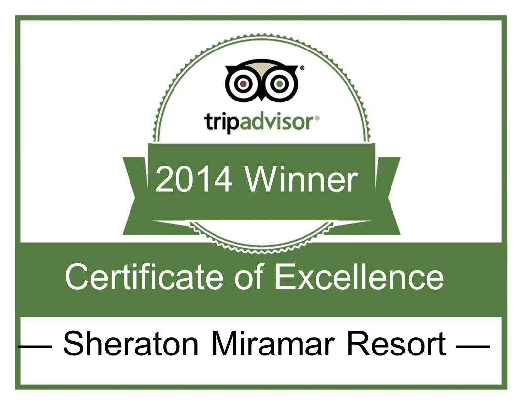 TripAdvisor awards Sheraton Miramar Resort El Gounna  Certificate of Excellence