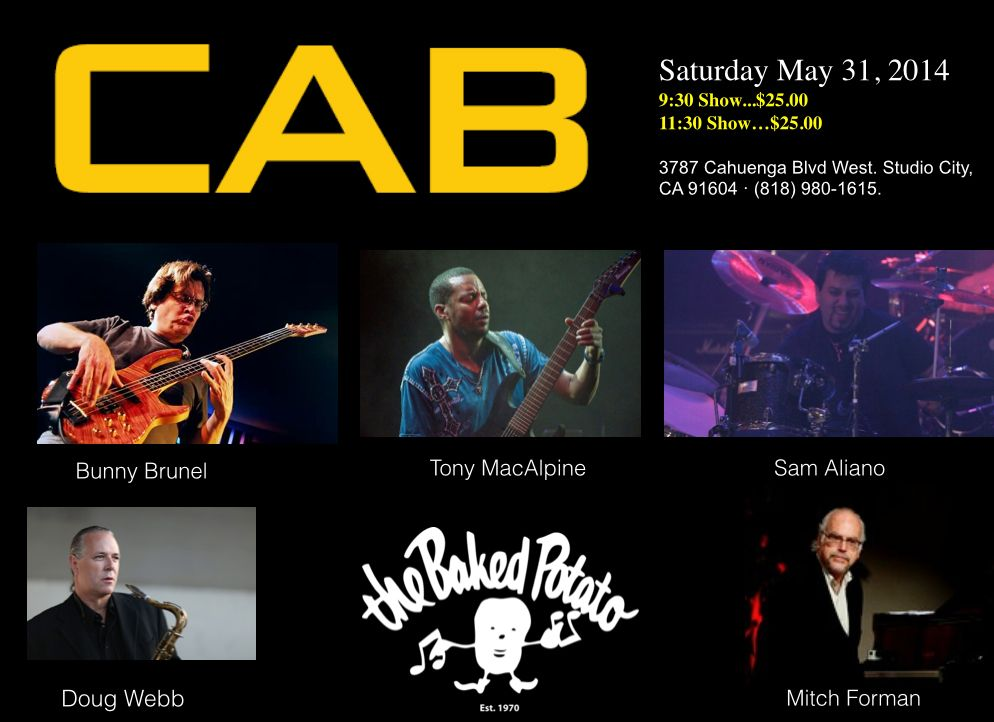 CAB Concert at the Baked Potato Announcement