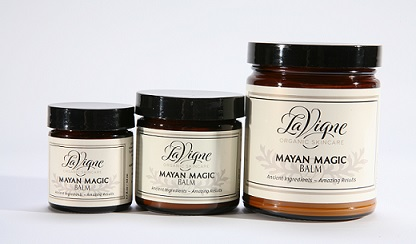 Mayan Magic is available in 1.7oz, 3.5oz and 9.45oz