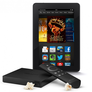 Amazon Fire TV and Kindle Fire HDX 7  16GB Bundle