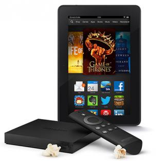 Amazon Fire TV and Kindle Fire HDX 7  16GB Bundle