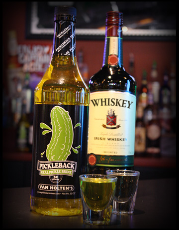 The Original Pickleback Drink - Whisky and Pickle Brine - Van Holten's