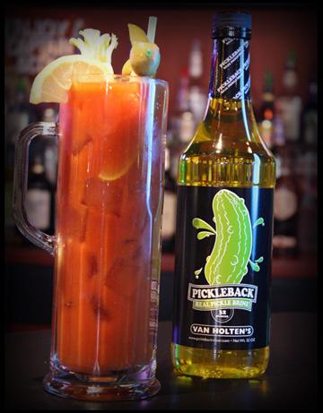 Van Holten's Pickleback in  Bloody Mary