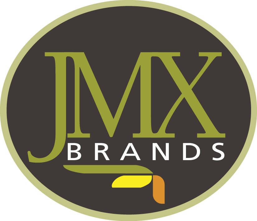 The new JMX Brands logo enforces the company's foundation as a family of brands
