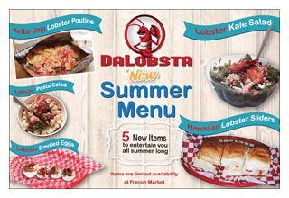 Da Lobsta summer 2014 food items graphic 300 pixel