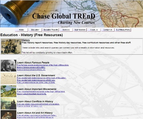 Chase Global offers free education website