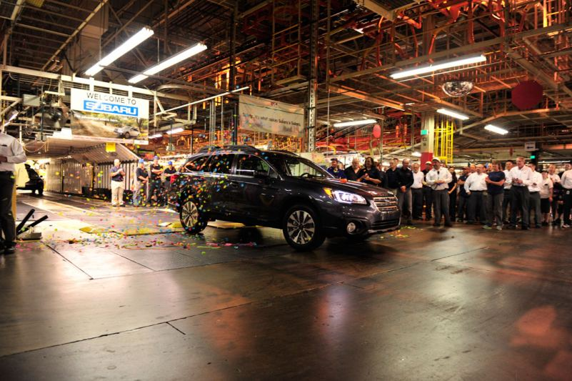 New Subaru Outback >> Production of New 2015 Subaru Outback Begins at SIA