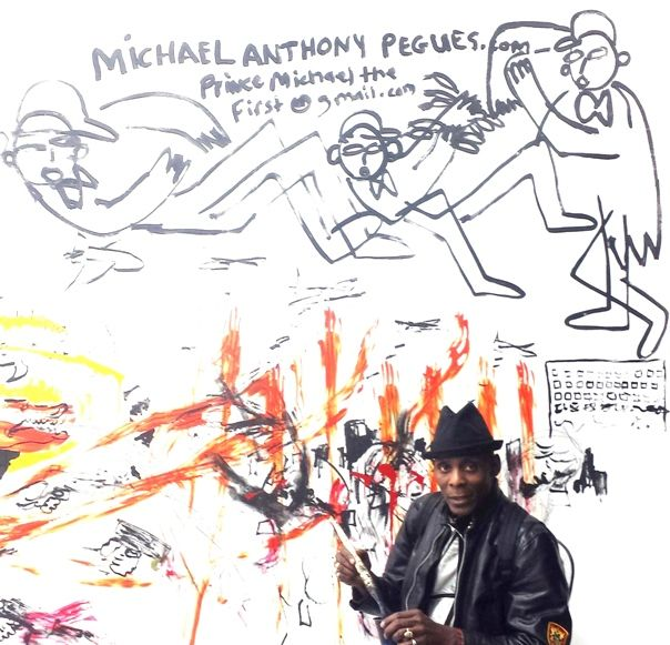 Artist Michael Anthony Pegues, The New Museum, NYC, April 17, 2014