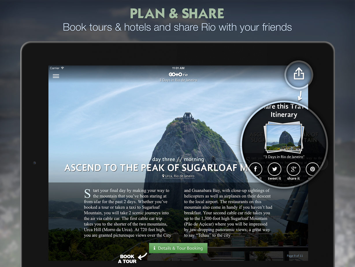 new travel guide app lets you take a tour of rio de