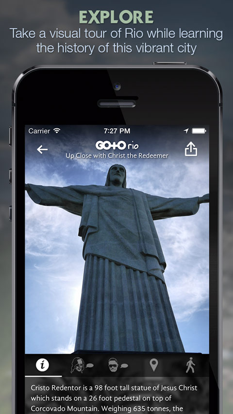 Get Up Close with Christ the Redeemer on your iPhone, iPad or Android device