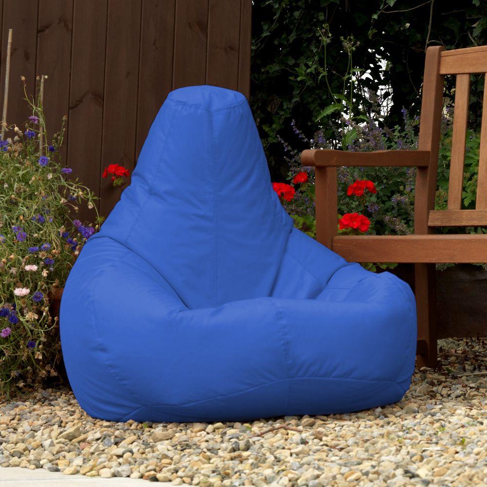 Indoor / Outdoor Recliner Bean Bag in blue