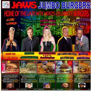 Late Night Host Burger Line Up