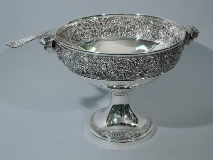 antique sterling tiffany punch bowl