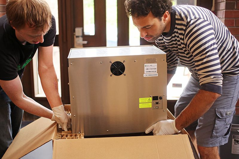 Zymatic® unit being boxed for shipment