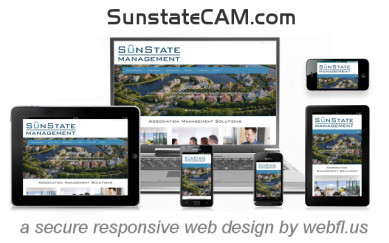 SunState HOA Property Management | Speedy Secure Responsive Web Design