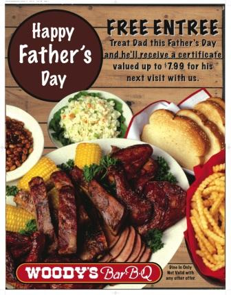 Woody's Bar-B-Q Fathers Day 2014 Promotion Celebrates Dear Old Dad